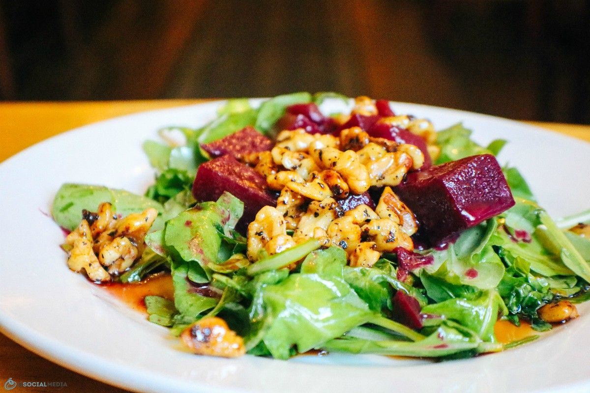 Beet Salad at Chiesa Italian Restaurant Asheville