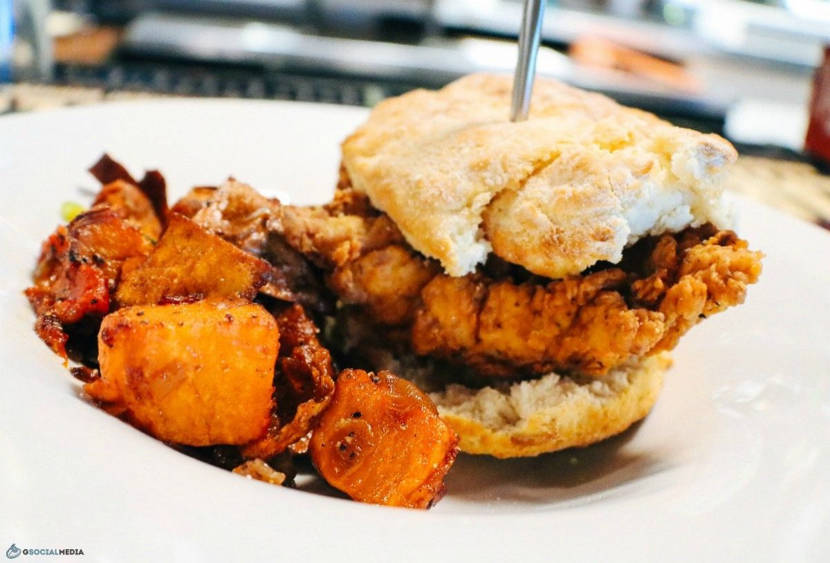 Chicken Biscuit at Continental Lounge Asheville