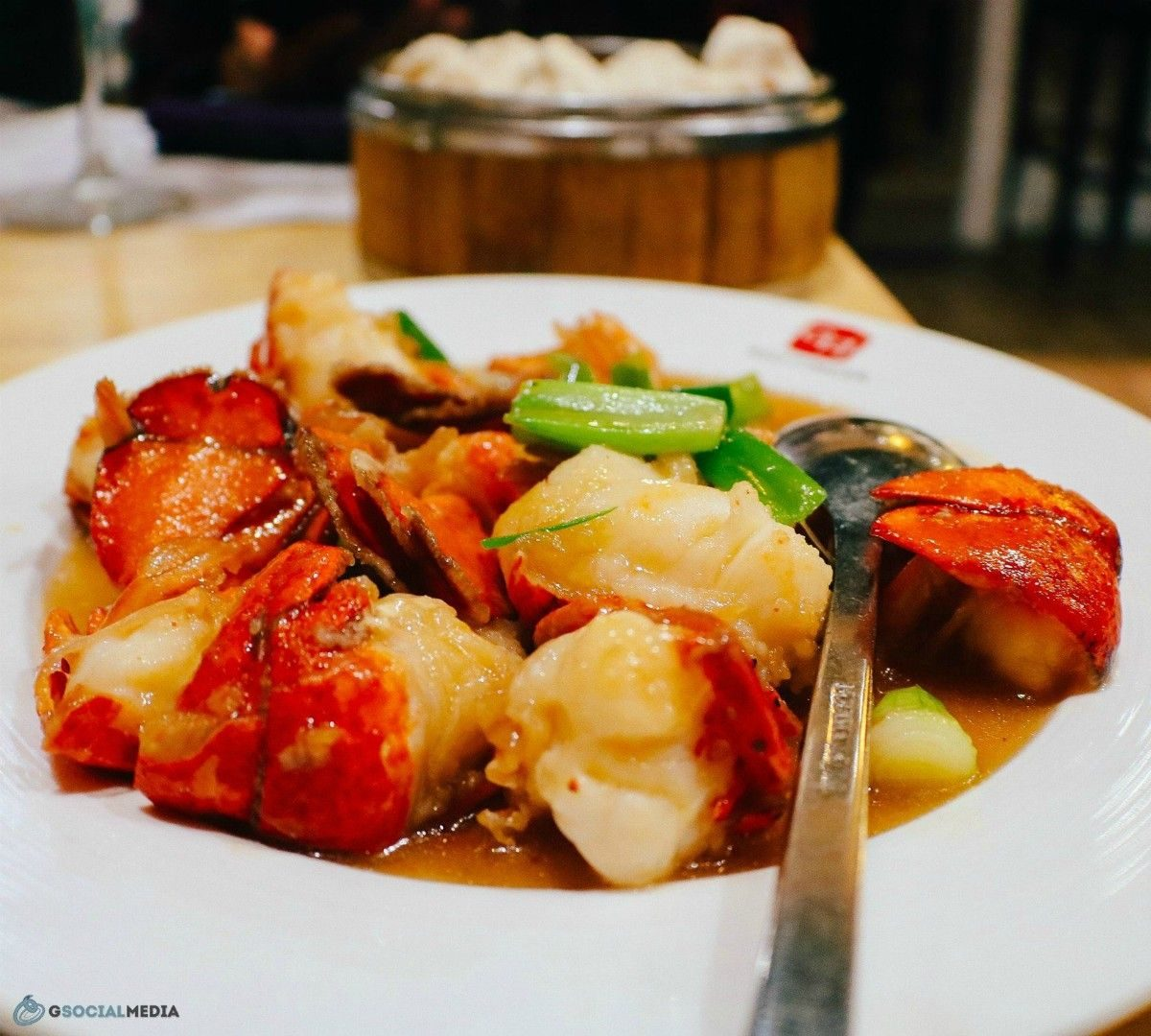 Lobster with Steamed Buns in the background